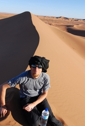 Andrew in the Sahara