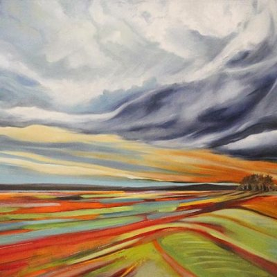 Barbara Becker Landscape with clouds