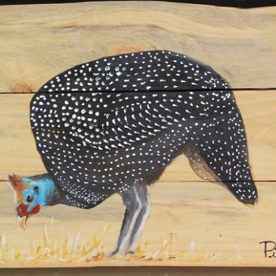 painting of a guinea fowl