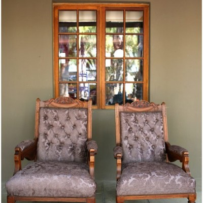 Photo of two antique chairs