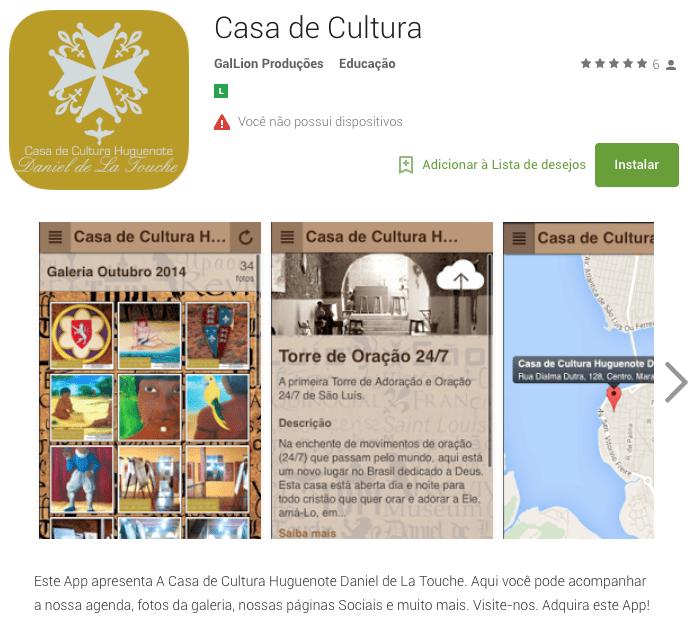 portfolio - App - casa de cultura AMOSTRA