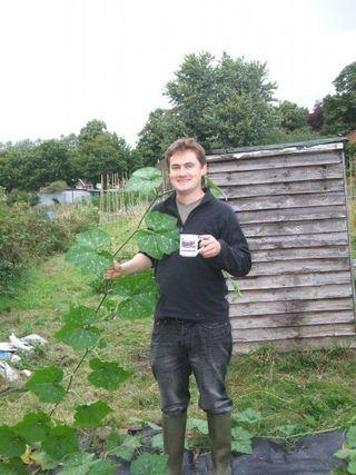 Sam Mugford in his wellies