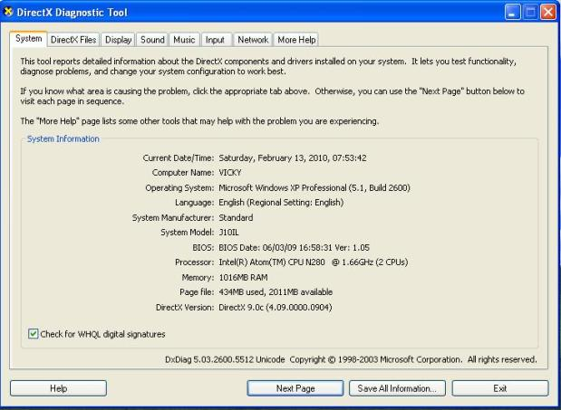 cara mengetahui spesifikasi komputer windows xp