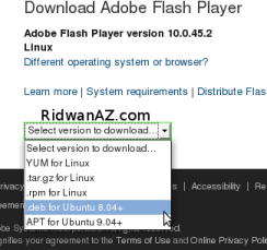 cara install flash player pada ubuntu 8.04, 8.10, 9.04, 9.10
