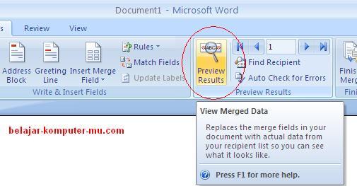 cara membuat data mail merge pada microsoft word 2007 2010