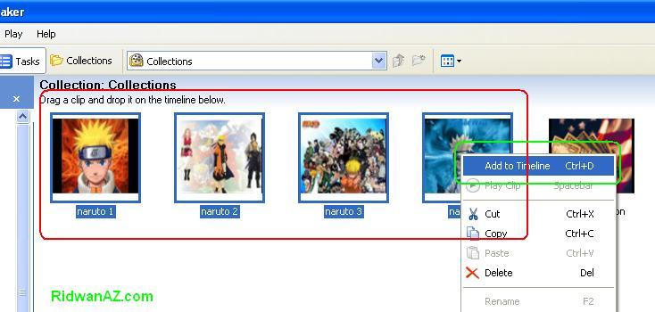 cara membuat video dengan movie maker windows xp