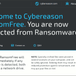 Protect your computer from Ransomware using Cybereason RansomFree 2.3.0