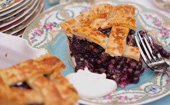 This pie is packed with flavor because of the flaky crust and the wild blueberries. You can replace the wild blueberries with the cultivated ones.