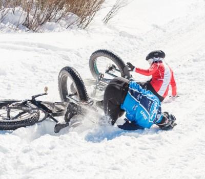 Two bikers crashing - CyclingTips The Beauty of Cycling