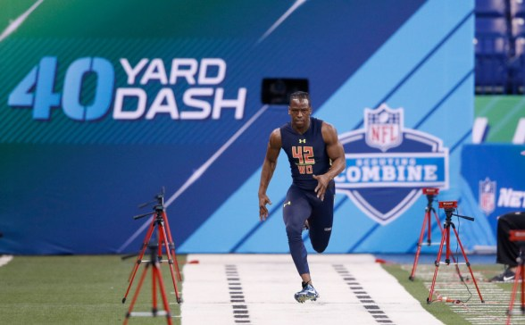 wide receiver 40 yard dash nfl combine times