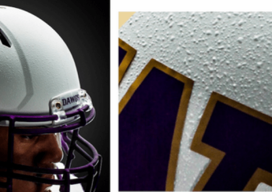 washingotn huskies white popcorn helmets