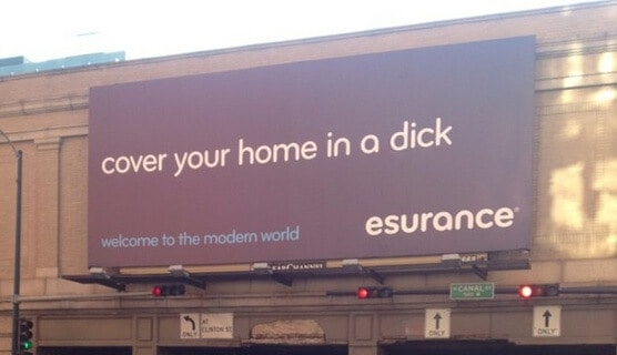 esurance dick billboard