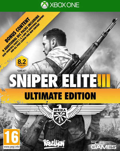 Sniper Elite III XBOX One Cover