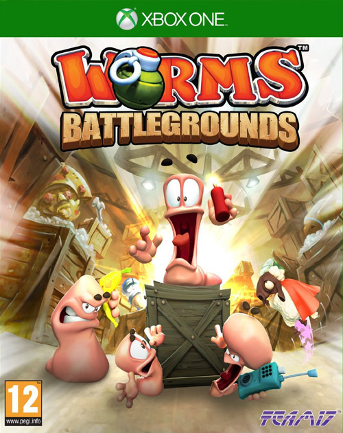 Worms Battlegrounds XBOX One Cover