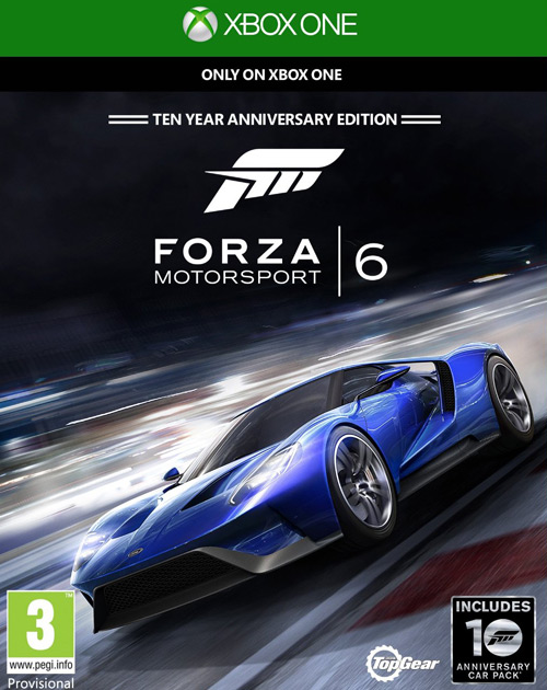 Forza Motorsport 6 XB1 Cover