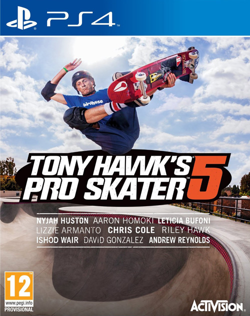 Tony Hawk's Pro Skater 5 PS4 Cover