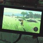 『ゼルダの伝説 ブレスオブザワイルド』Switch携帯モードの10分間にわたるCam撮りプレイ動画