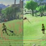 Switch版『ゼルダの伝説 ブレスオブザワイルド』TVモードと携帯モードの比較&フレームレートテスト映像が公開