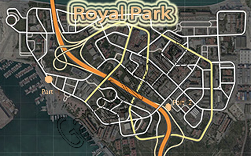 Need-For-Spped-Royal-Park-Free-Parts-Location-Map
