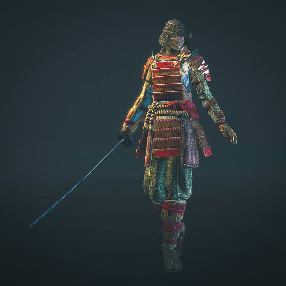 The Orochi hero from the For Honor game Closed Alpha