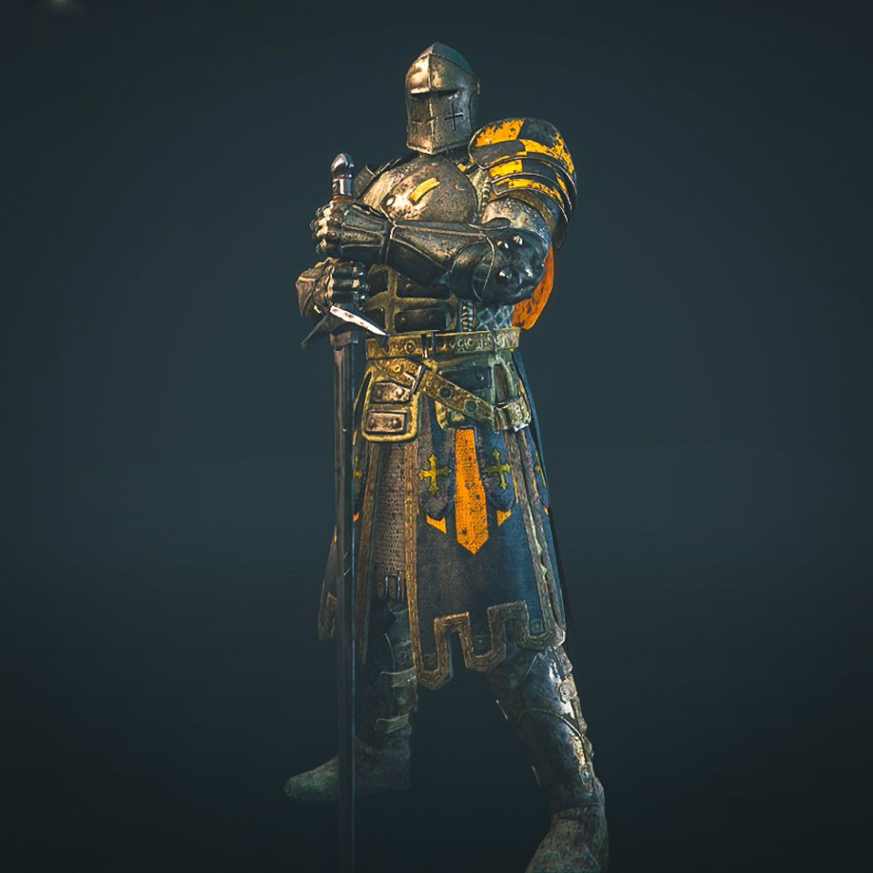 The Warden hero from the For Honor game Closed Alpha.