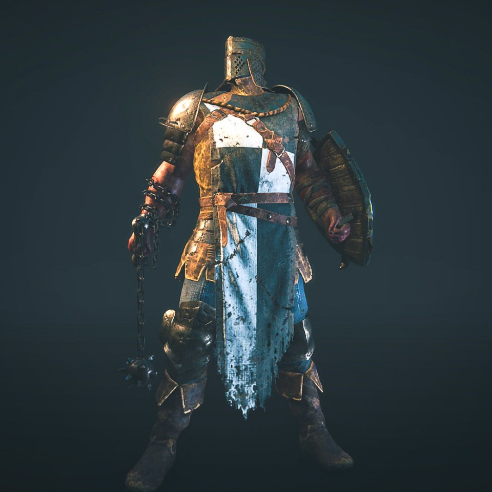 The Conqueror hero from the For Honor game Closed Alpha.