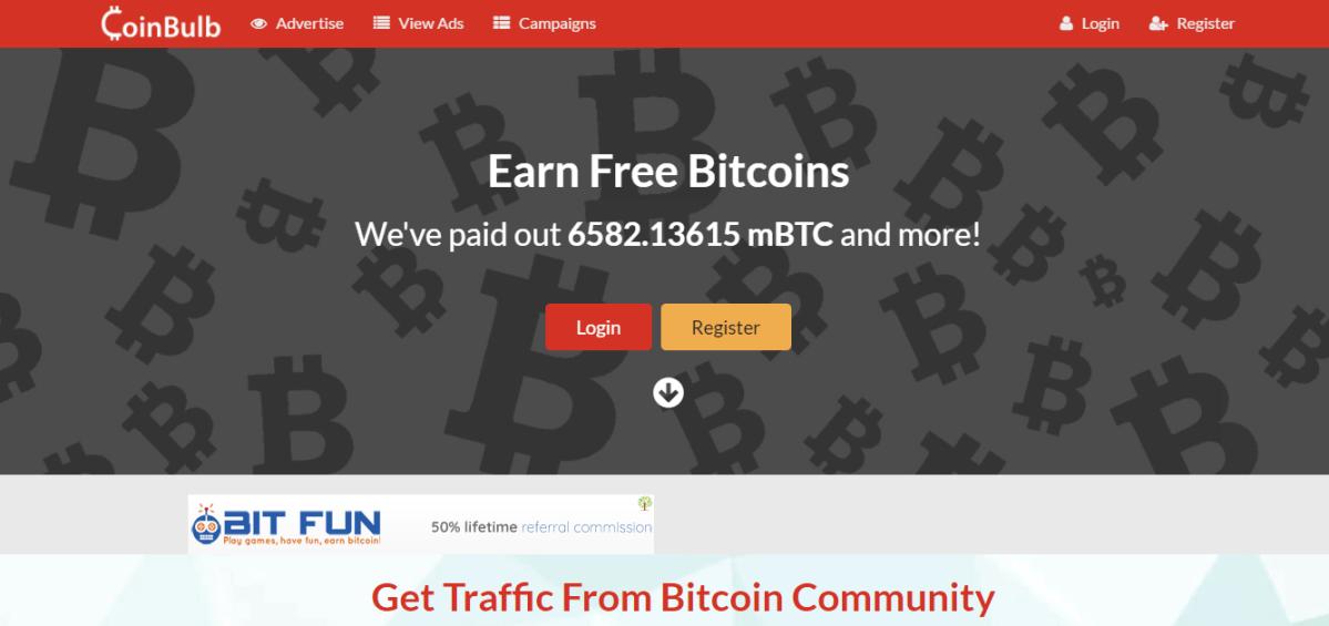 Ganar bitcoins viendo anuncios con Coinbulb