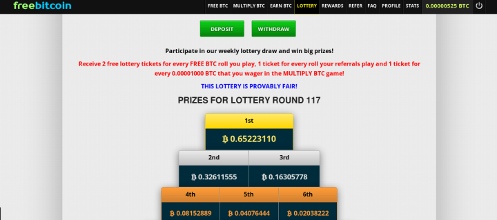BTC lottery