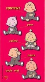 langage des signes - bébé content