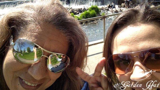 Burlington Wi - Garden Adventure selfie with my daughter!