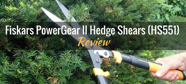 Fiskars PowerGear II Hedge Shears HS551 Featured
