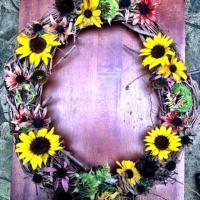 Sunflower & Coneflower Wreath: Fall Decor and Dinner for the Birds