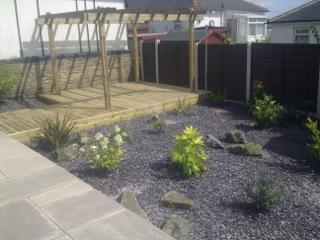 A maintenance free garden
