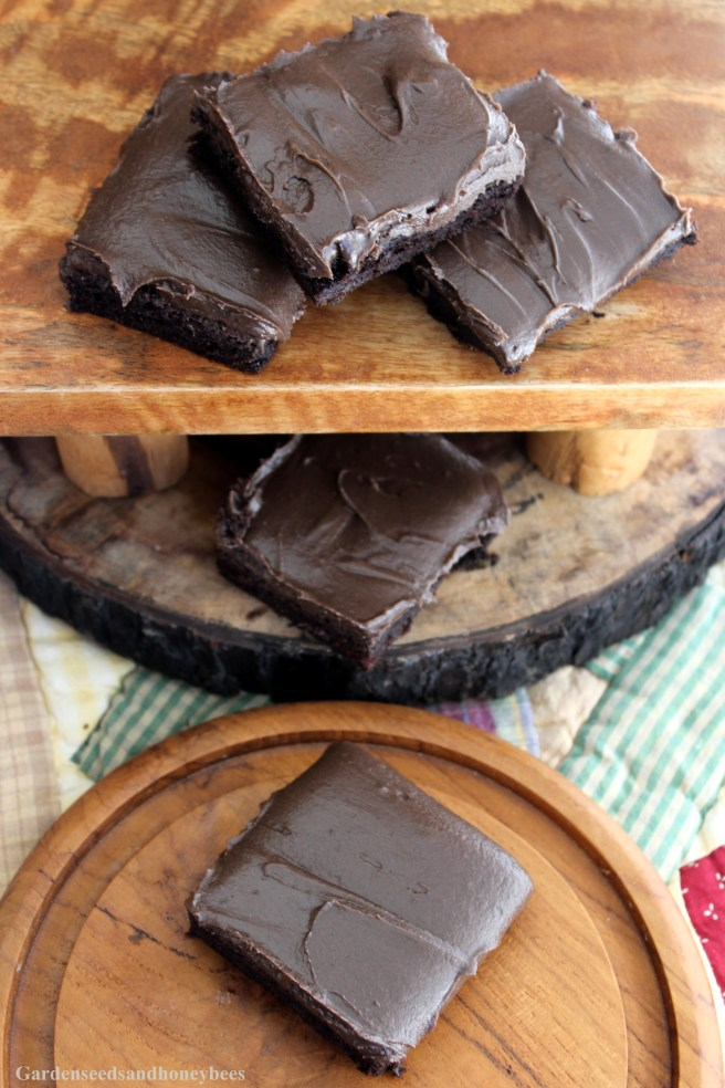 Frosted Dark Chocolate Zucchini Brownies