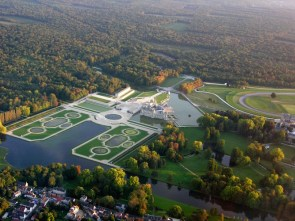 Aerial view of Versailles