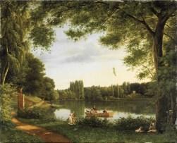 Jean Joseph Xavier Bidauld - Vue du lac d'Ermenonville
