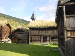 Sod roofs on farm buildings in Heidal, Norway. Photo Roede