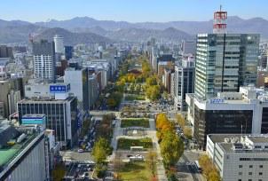 Aerial view of Odori Park, Sapporo © City of Sapporo