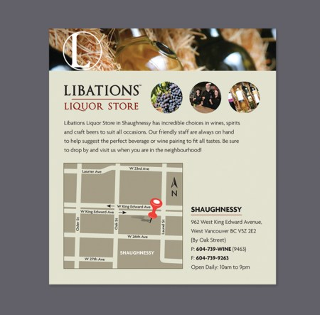 Libations Liquor store | New Location in Shaunghnessy