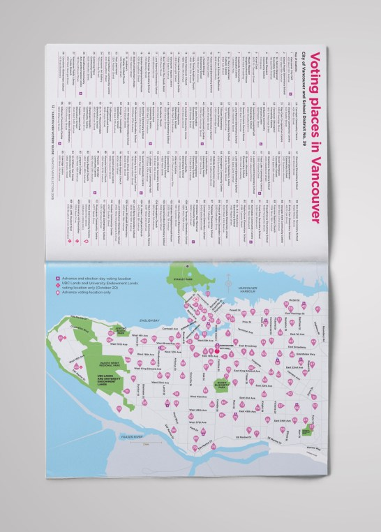 Vancouver Voters' Guide | Voting Locations Map