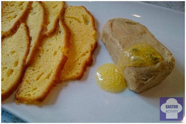 Micuit de foie con sobao pasiego y gelé de Moscatel en restaurante Le Coco