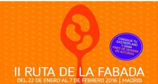 II Ruta de la Fabada Madrid 2016 Cartel