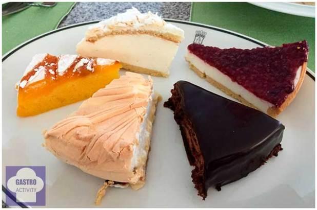 Tarta de chocolate tarta de limon tarta de yema Restaurante Jose Luis Madrid