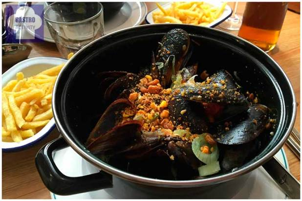 Mejllones BBQ Restaurante Mejillon Moules frites Madrid