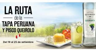 Ruta de la Tapa Peruana y Pisco Queirolo del 19 al 25 de septiembre
