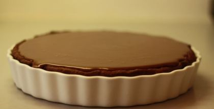 triple chokolate praline pie