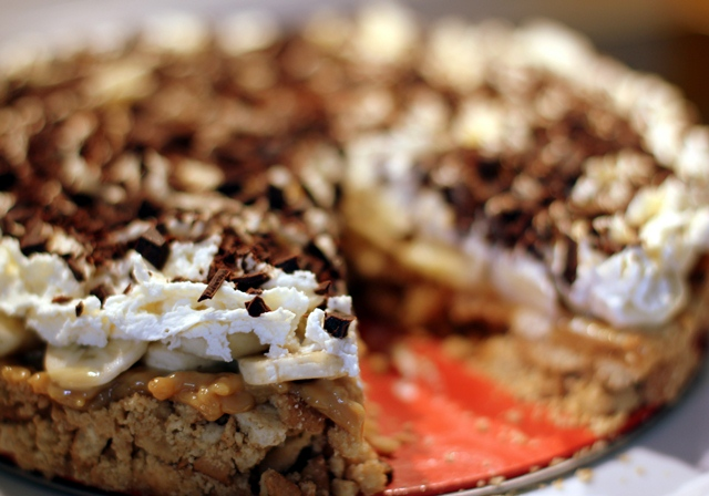 Banana Toffee Pie - den ultimative super bowl dessert