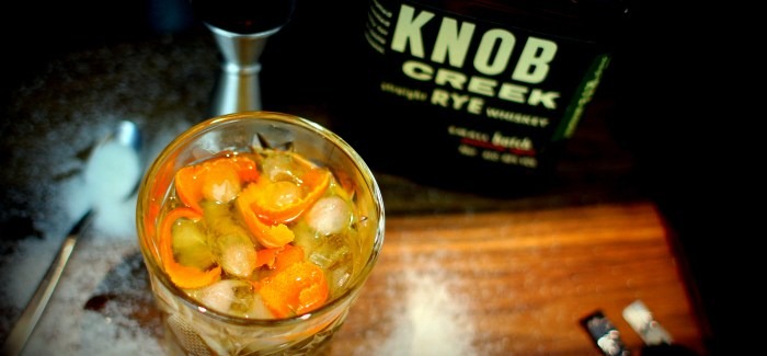 WednesdaysWhisky: Old Fashioned på Knob Creek Rye