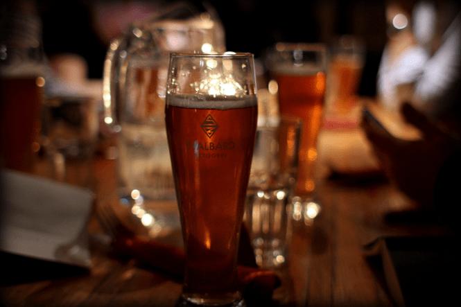 Lokal Pale Ale - som jeg fik lidt for mange af på turen...