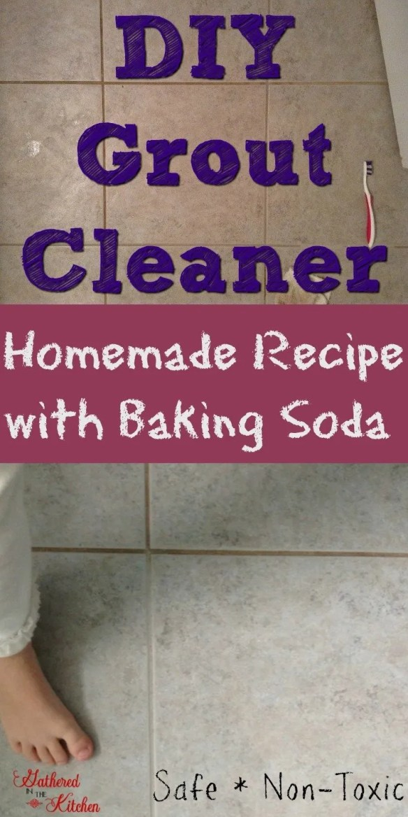 how to clean floor tile grout with baking soda